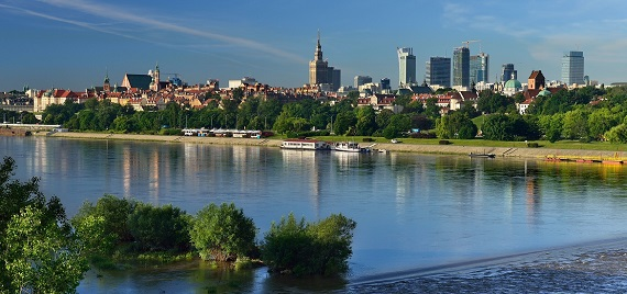 Panorama view of Warsaw