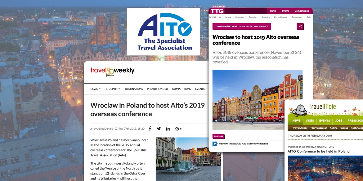 Wrocław to host the AITO 2019 conference in November